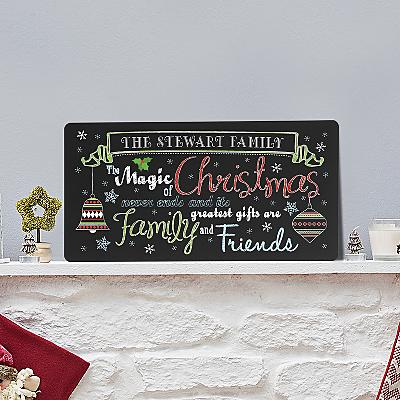 The Magic of Christmas Chalkboard