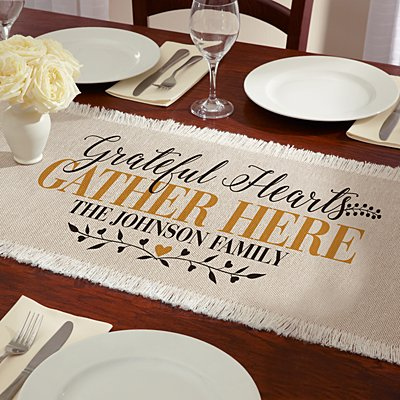 Grateful Hearts Table Runner