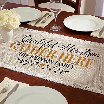 Grateful Hearts Table Runner