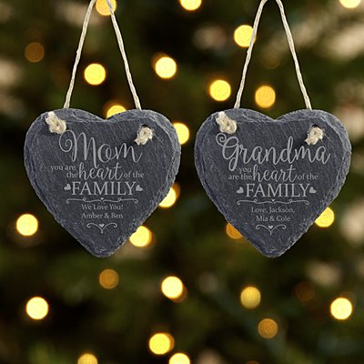 Heart of the Family Slate Ornament