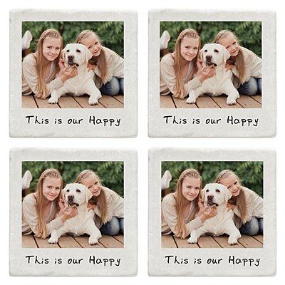 Memories Shared Photo Coasters - Single Photo