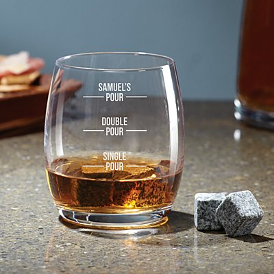 Perfect Pour Whiskey Glass Stone Set
