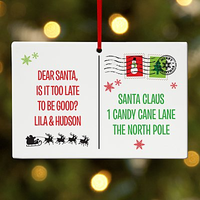 Postcard to Santa Rectangle Ornament