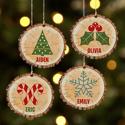 Rustic Charm Wooden Ornament