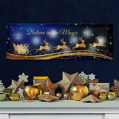 TwinkleBright® LED Santa Sleigh Canvas