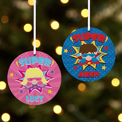 Super Kid Round Ornament