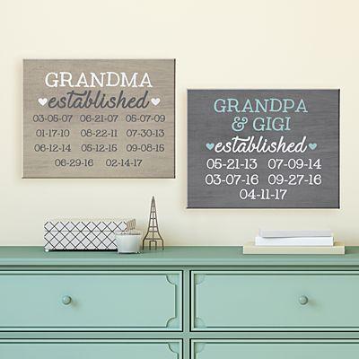 We Became Grandparents Canvas