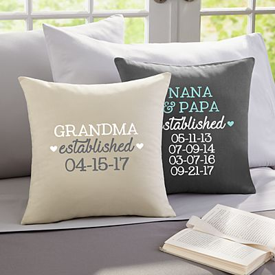 We Became Grandparents Throw Pillow