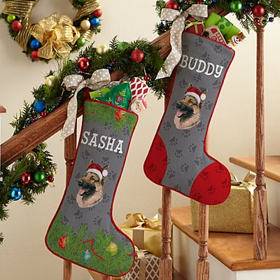 German Shepherd Stocking by Linda Picken©
