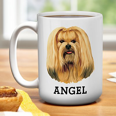 Lhasa Apso Mug by Linda Picken©