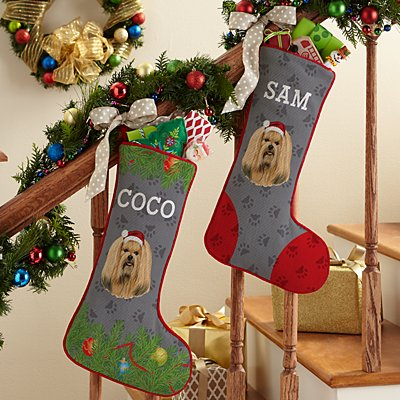 Lhasa Apso Stocking by Linda Picken©