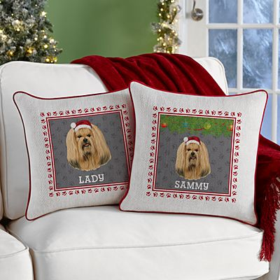 Lhasa Apso Throw Pillow by Linda Picken©