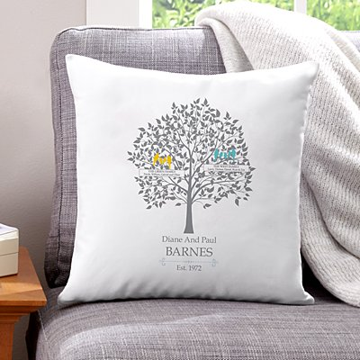 Loving Family Tree Throw Pillow