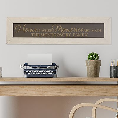 Where Memories Are Made Framed Wood Sign