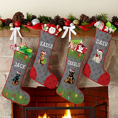 Dog Breed Puppy Stocking by Linda Picken©