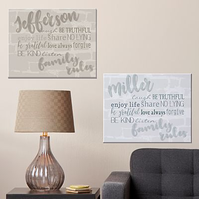 Modern Family Rules Canvas