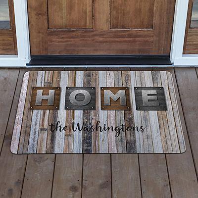 Rustic Plank Wood Doormat