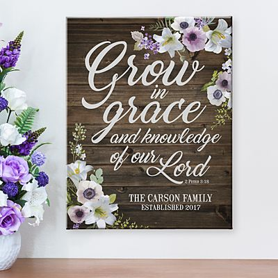 Grow in Grace Canvas