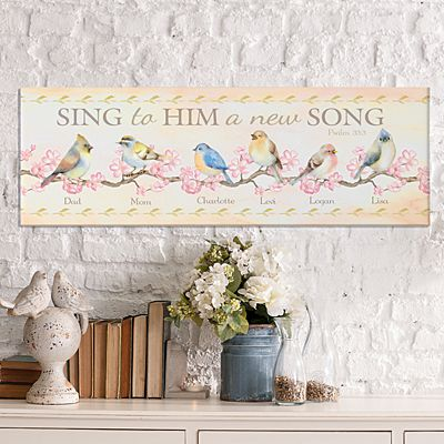 Sing to Him a New Song Canvas