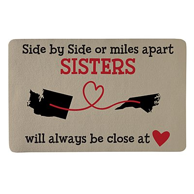 Miles Apart, Close at Heart Doormat - 17x27