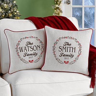 Rustic Christmas Sofa Cushion