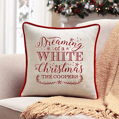 Dreaming of a White Christmas Sofa Cushion