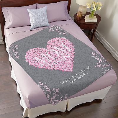 Heart Petals Plush Blanket