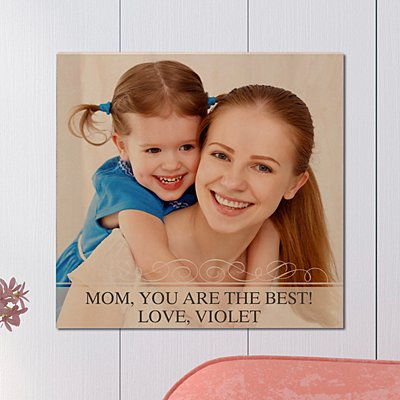 Picture Perfect Photo with Message Wood Plaque