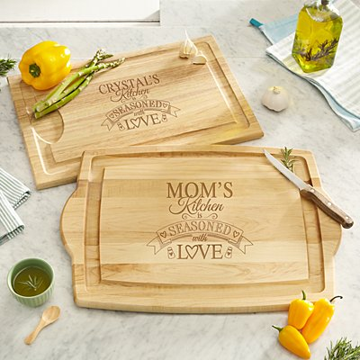 Seasoned With Love Wood Cutting Board