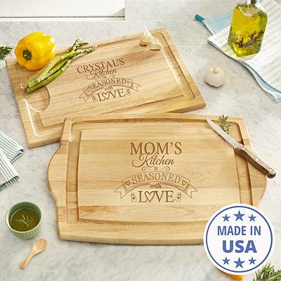 Seasoned With Love Wood Cutting Board