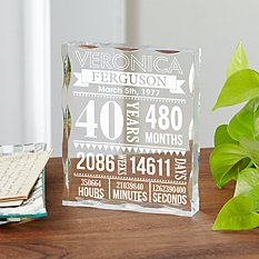This Many Years and Counting Acrylic Block