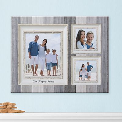 Weathered Stripe Photo Canvas