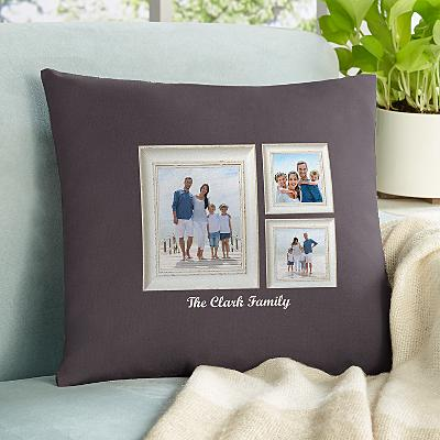 Weathered Stripe Photo Cushion