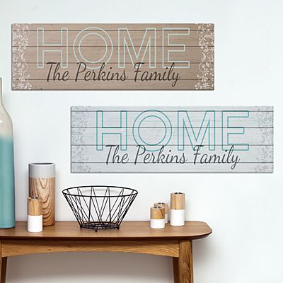 Wooden Home Sign Canvas