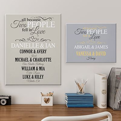All Because Two People Family Canvas