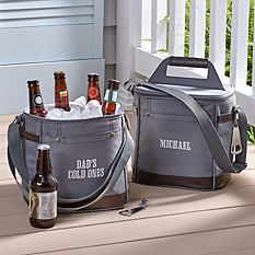 Canvas & Leather Travel Cooler