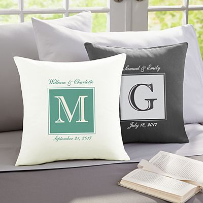 Initially Ours Throw Pillow