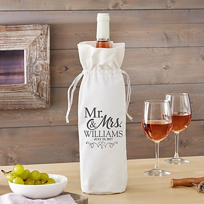 Just Married Wine Bag