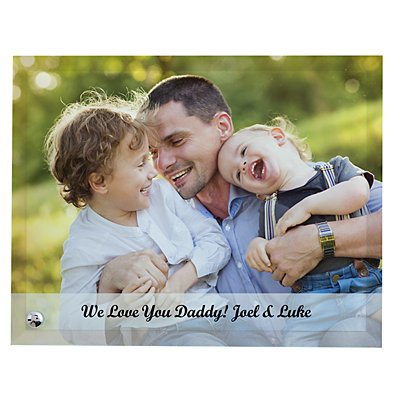 Picture Perfect Family Photo Glass Frame with Message - Horizontal