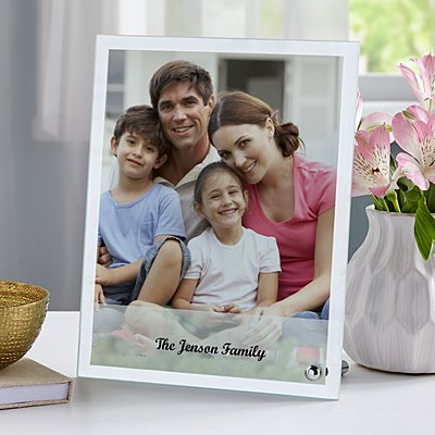 Family Photo Glass Message Frame