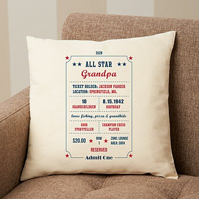 All About You Ticket Stub Pillow