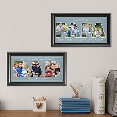 Dad Typography Photo Framed Print