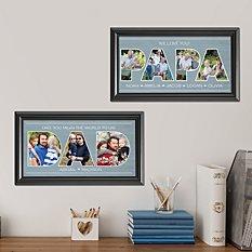 Dad Typography Photo Framed Print