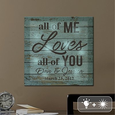 TwinkleBright® LED All of Me Loves All of You Canvas