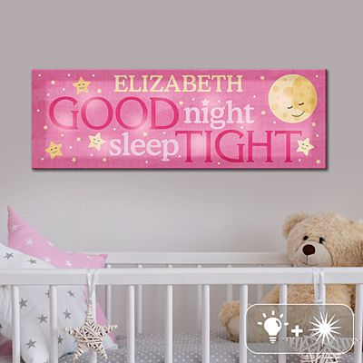 TwinkleBright® LED Sleep Well Baby Canvas