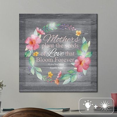 TwinkleBright® LED Her Love Blooms Canvas
