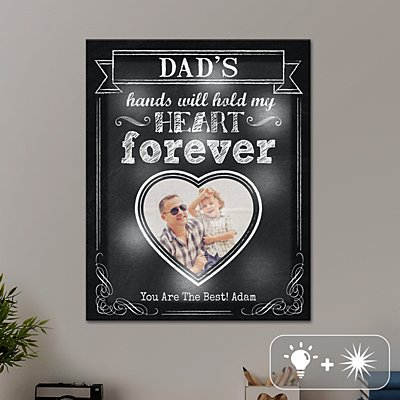 TwinkleBright® LED His Heart Photo Canvas