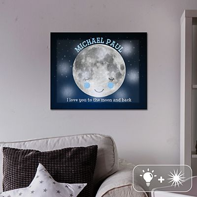 TwinkleBright® LED Love You To The Moon Canvas
