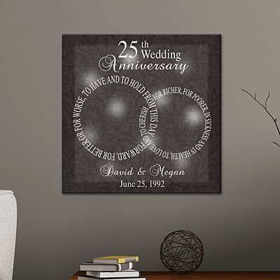TwinkleBright® LED Rings of Love Anniversary Canvas