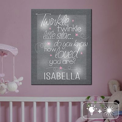 TwinkleBright® LED Little Star Canvas